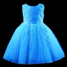 2017 Little Babe Girl Clothing Kid Tulle Dresses elegant Lace Evening Party Gown Children Ball Gown Dress