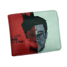 Free Shipping Popular Movie Purse Fight Club Avatar Jaws Once Upon A Time Wallet With Coin Pocket Card Holder High Quality
