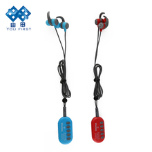 Wireless Bleutooth Earphone MP3 Player Stereo FM Radio TF Card Bleutooth Earphones Noise Cancelling With Mic For Mobile Phone(China)