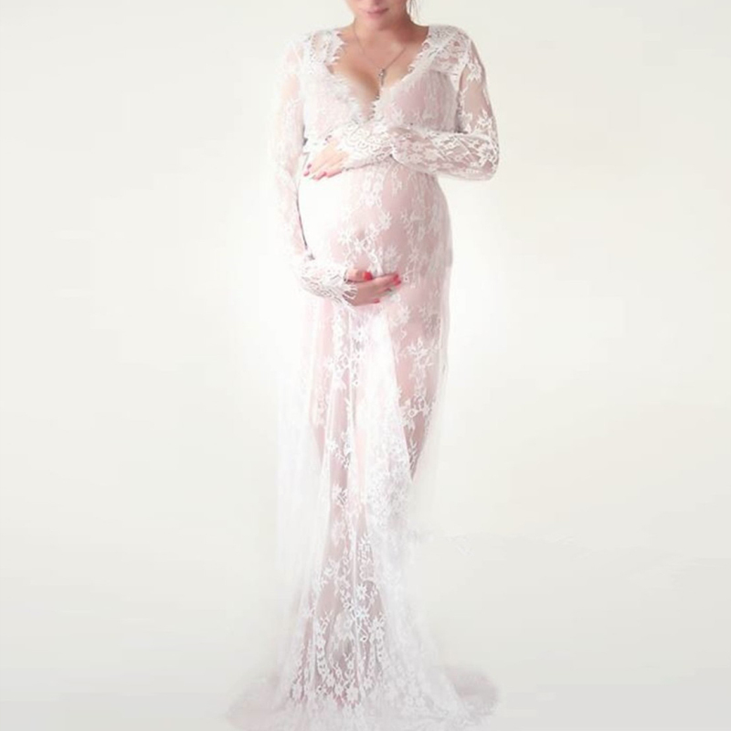 pregnant lace dress photography props (3)
