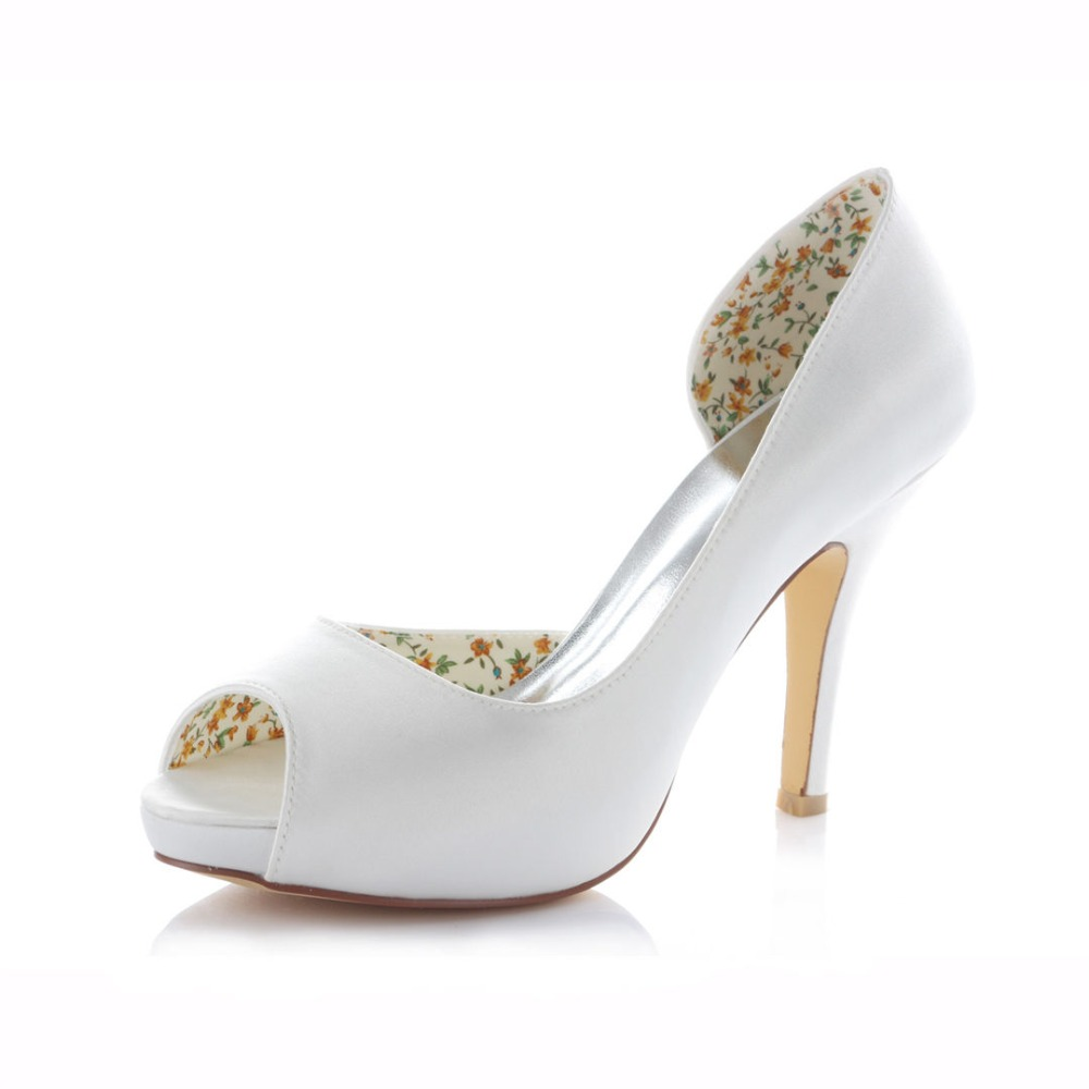 side opening solid color ivory white champagne royal blue wedding bridal marriage shoes 10CM high heels stilettos 521-4 ZHL<br><br>Aliexpress