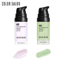 Color Salon HD Facial Correct Primer 12ml Smooth Makeup Base Contour Face Concealer Cream Flawless Coverage Natural Moisturizing