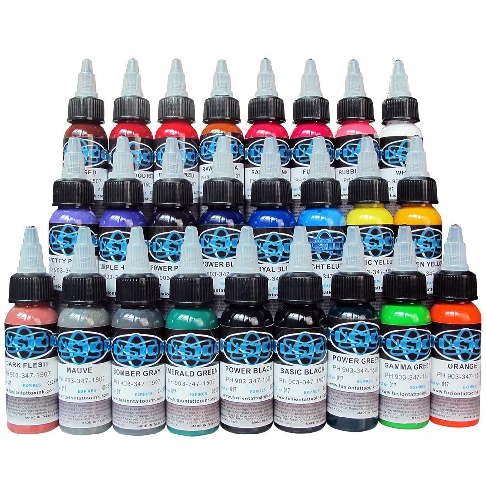 Top quality Tattoo ink New Kind Tattoo Ink Set 16pcs/lot 1oz 30ml/Bottle Tattoo Pigment Kit for 3D makeup beauty skin<br>
