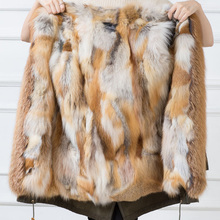 New arrival natural red fox fur plate parka lining fur raw material clothes accessory