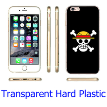 One Piece Straw Hat Pirate Flag Transparent Phone Case for iPhone 5S 5 SE 5C 4 4S 6 6S 7 Plus Cover ( Soft TPU / Hard Plastic )