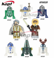 Single Sale Star Wars Han Solo Luke Skywalker BB8 R3-D5 R3D5 Reindeer R2D2 Blue Building Blocks Bricks Children Gift Toys KF6020 - Minifigures store