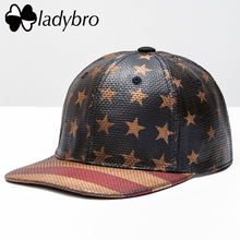 Ladybro Brand Quality Women Hat Flag Weave Cap Men Baseball Cap Male Summer Street Print Snapback Hat Letter Hip Hop Cap Female(China)