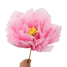 Colorful 3D Artificial Peony Dance Prop Up Flower Simulated Floral Shape Umbrella Wedding Party Show Tool Home Decor Craft(China)