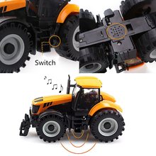 Kids Toddlers 1:32 Scale Model Car Truck Toy Diecast Farmer Vehicle Tractor LED Musical Toys For Children 163*88*78 mm