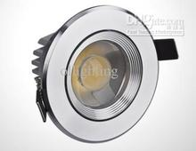 12 x Round Sliver Led Recessed down Light CREE LED 15W  Led Downlight 1500lm Dimmable AC110V/220V 120 Degree free shipping