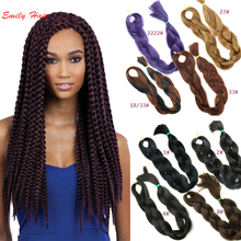 "165g Gray Xpression Braiding Hair Extension 86"" Synthetic Braiding Hair  Green Synthetic Afro Hair Braid Ombre Hairpiece"