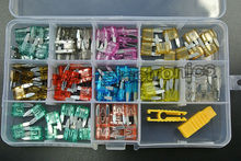 New Free Shipping 110pcs Car Auto Assorted Car Truck Mini Fuse Box Assortment 1A 2A 3A 5A 7.5A 10A 15A 20A 25A 30A 40A