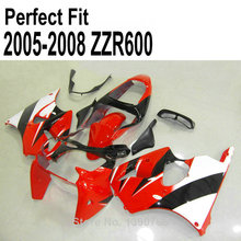 Injection molded fairing kit for Kawasaki ZZR600 2005 2006 2007 2008 05 06 07 08 red fairings TP01(China)