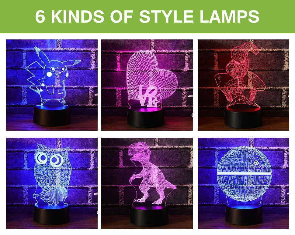 Doraemon 3D Stereo Vision Lamp Acrilico 7 colori che cambiano USB Camera da letto comodino Nightlight Lampada da scrivania creativa Kids Gift deco maison