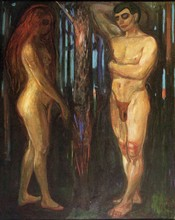 Unframed Canvas Prints - Barbizon School Religious - Adam And Eve - by Edvard Munch(China)