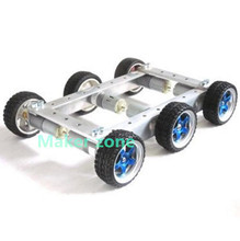 Cool and New 6WD small car bearing chassis motor 6V 150RPM wheels skid 65mm for smart remote control