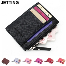 JETTING 1PCS New Leather Card Holder Black Brown High Quality Soft Business Fashion ID Credit Cards Holders For Men(China)