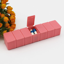 Cute 7days Travel Pill Box Solid Color Container For Medicines Travel And Home Use Storage Case For Pill Tablet White
