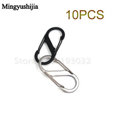 10Pcs/Lot Outdoor Mini Portable Snap Hook Hang Buckle EDC Gear QD Survive Stainless Steel Carabiner Buckle Key Chain Travel Kits(China)