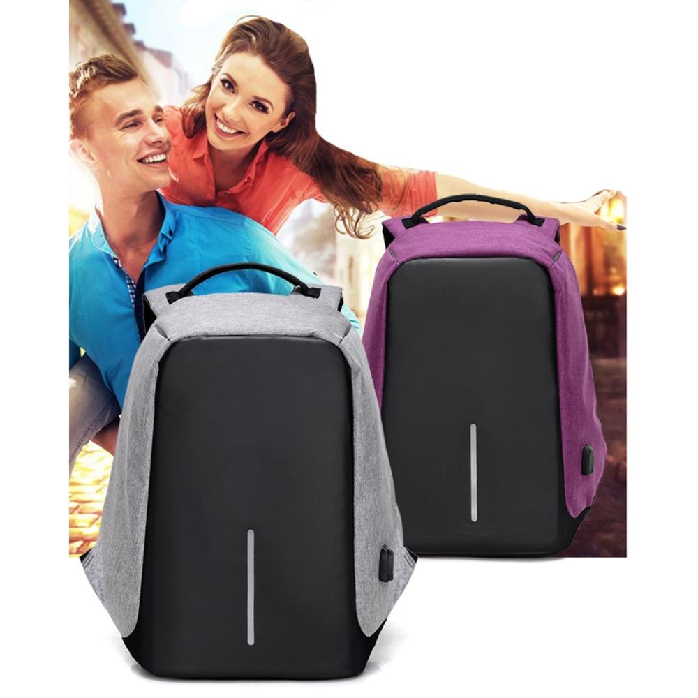 Anti-theft Design Men Travel Backpack Shoulder Bag for College Business Women Travel Daypack with USB Charging Port Laptop Bag<br>
