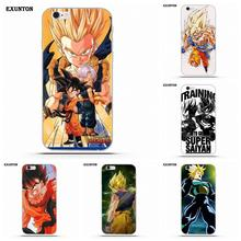Exunton Training To Go Super Saiyan Dragon Ball Z TPU Phone Skin For Apple iPhone 4 4S 5 5C SE 6 6S 7 8 Plus X(China)