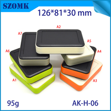 1 piece, 126*81*30mm szomk customizable handheld plastic enclosure for pcb handheld electronic equipment enclosure control box(China)