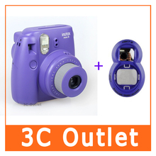 Instax Mini8 Original Fujifilm Camera + Close-up Lens (2 In 1 Purple Set)