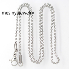 Buy 10pcs 1.5mm width silver stainless steel ball chain necklace floating charm glass locket,no locket for $8.80 in AliExpress store