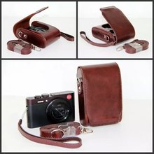 Black/White/Pink/Hot Pink/Brown/CoffeCamera Case Bag Leather Case Cover for Leica V-LUX30 C LF1 XQ1 Camera Free Shipping(China)