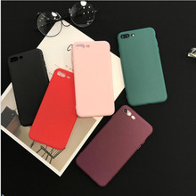 Silicone Soft TPU Cover fitted case for iphone 6 6s 6plus the back case on for iphone 7 7plus Scrub colorful for iphone x case(China)