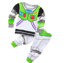 Retail fashion children's baby's sets Girls Buzz Lightyear Hello kitty clothing sets cartoon pajamas sets T-shirts+pants clothes