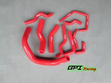 For NISSAN SILVIA 200SX 240SX S13 S14 S15 SR20DET COOLANT SILICONE RADIATOR HOSE RED(China)