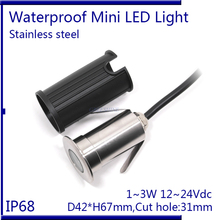 D42XH67mm 3W RGB Inground Pool Light DC12-24V Underwater LED IP68 stainless steel Spa Lamp,white ,warm white,blue  3pcs/lot