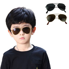 2017 New Cool Fashion Mercury Ultraviolet-proof Baby Children Kids Boy Girl Goggles Metal Frame Child Sunglasses Shades Gafas