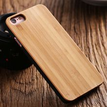 FLOVEME 100% Natural Wood Case For iPhone X 10 6S Vintage Retro Real Wooden Bamboo Hard Cover Shell For iPhone 7 6 5 5S SE Case(China)