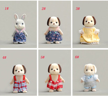 wholesale Japan original bulks sylvanian families cute Dog Rabbit dolls toys for girls collectible gift