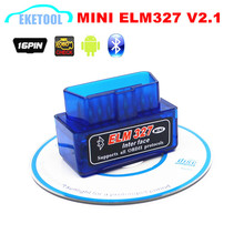 Latest New V2.1 Car Diagnostic Scanner ELM327 OBDII Code Reader MINI ELM 327 Bluetooth Auto Interface Works Android/PC/Symbian(China)