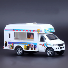 1:36 Alloy Truck Model Excellent Gifts High Simulation Exquisite Baby Toys Original Ice Cream Truck Catering Truck Model