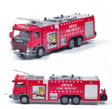 Hot Sale1:50 Alloy water tanker truck model fire rescue vehicle simulation models toys