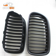 High quality 1 pair Carbon Fiber+ABS Front Car Grille Fit FOR BMW F20 11-13 Car Mesh Grill