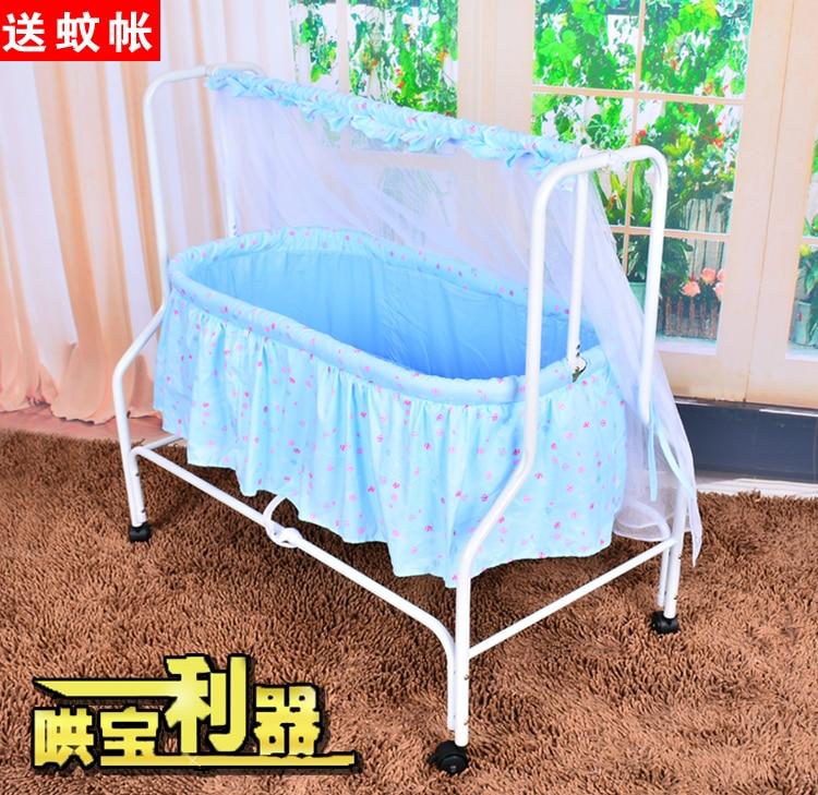 Baby cradle bed concentretor newborn belt mosquito net swing cradle bed bb bed roller baby sleeping basket<br><br>Aliexpress