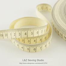 F039#-4 retail mini.order is $5 (mix order) 1.5CM width Zakka cotton ribbons handmade ruler label garment labels accessory