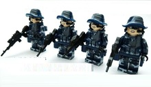 4Pcs Marines original Block toys City swat gun police military lepin weapons model accessories Compatible lepin mini figures