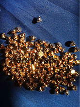 2016 fashion plastic spike 6mm rosegold 5000pcs/lot  studs nailhead DIY clothes jewelry accessories sewing glue on free shipping