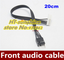 50PCS/LOT   Creative Sound Card 5.1/7.1 front audio panel line SB0350 0460 transfer cable 20CM   Free shipping