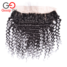 7A Indian Virgin Hair Deep Wave Frontal Top lace Frontal Pieces Wholesale Price Deep Curly Frontal Free ,Middle,Three Part