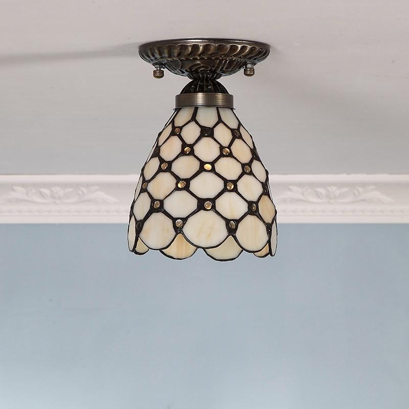 Tiffany Glass Ceiling Lamp creative European-style garden lamp bedroom balcony aisle Starry Light DIA 14 CM H16 CM<br><br>Aliexpress