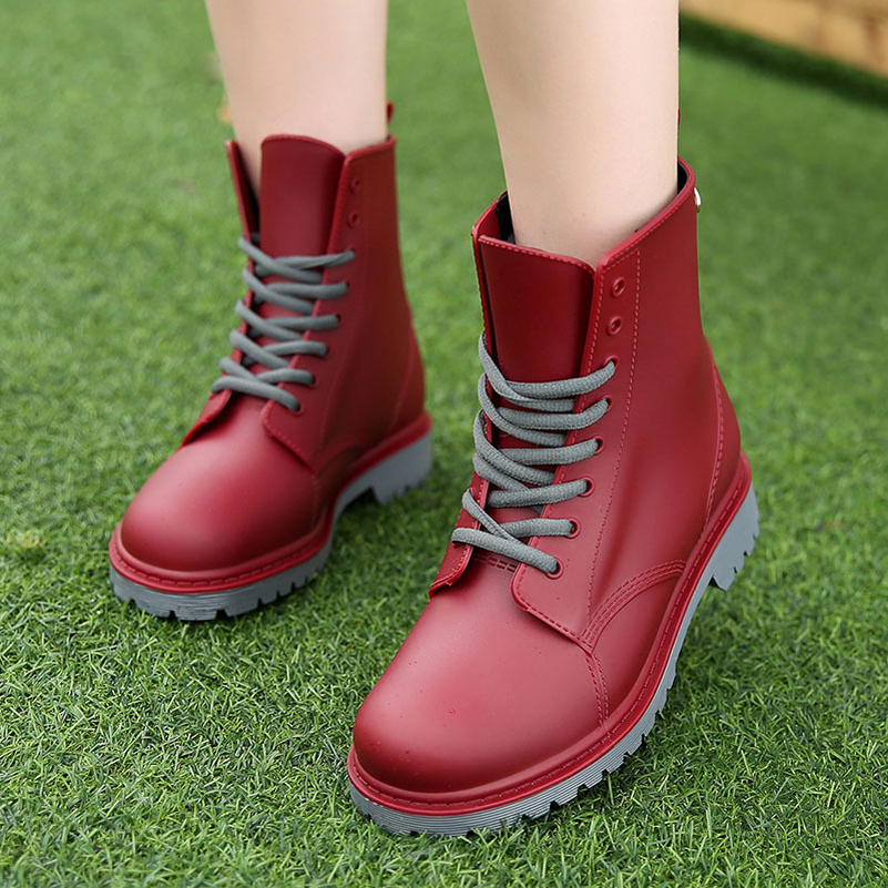 Women Boots Ladies Martins 2017 British Dr Martins Vintage Shoes Women Rain Boots Female Thick Heel Spring Plush Round Toe 2017<br><br>Aliexpress