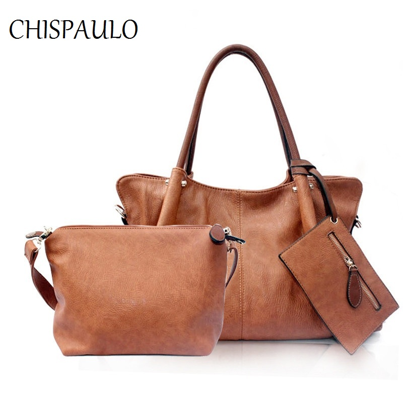2018 Genuine Leather Shoulder Bags composite bags casual totes lady set Women Messenger Bag Fashion Female Satchel Handbag T610<br>