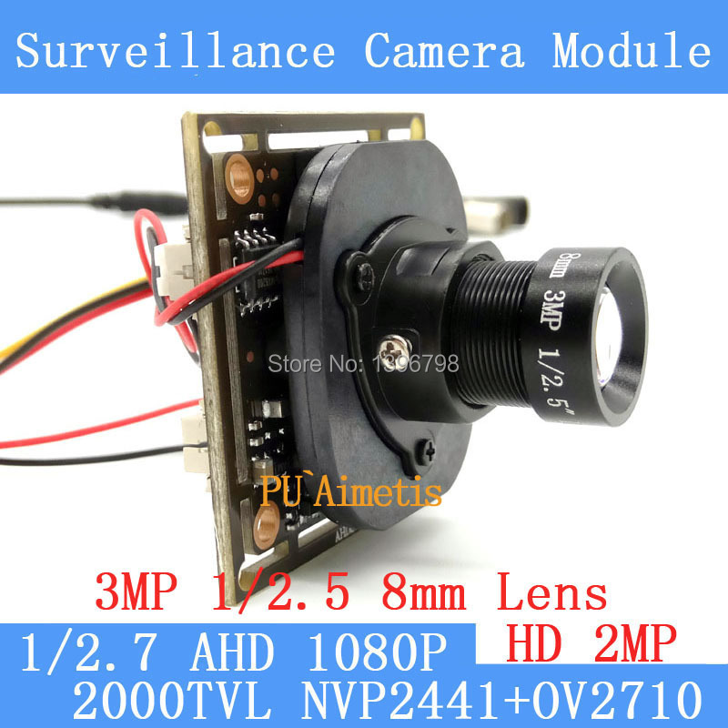 2.0MP 1920 * 1080 AHD 1080P surveillance Camera Module, 1 / 2.7 CMOS NVP2441H + OV2710 3MP 8mm Lens CCTV cameras ODS menu line<br><br>Aliexpress